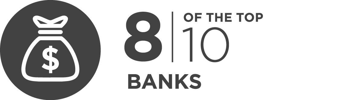 8 of the top 10 banks are InfoGuard customers
