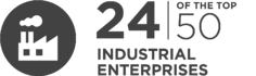 24 of the to 50 industrial enterprises are InfoGuard customers
