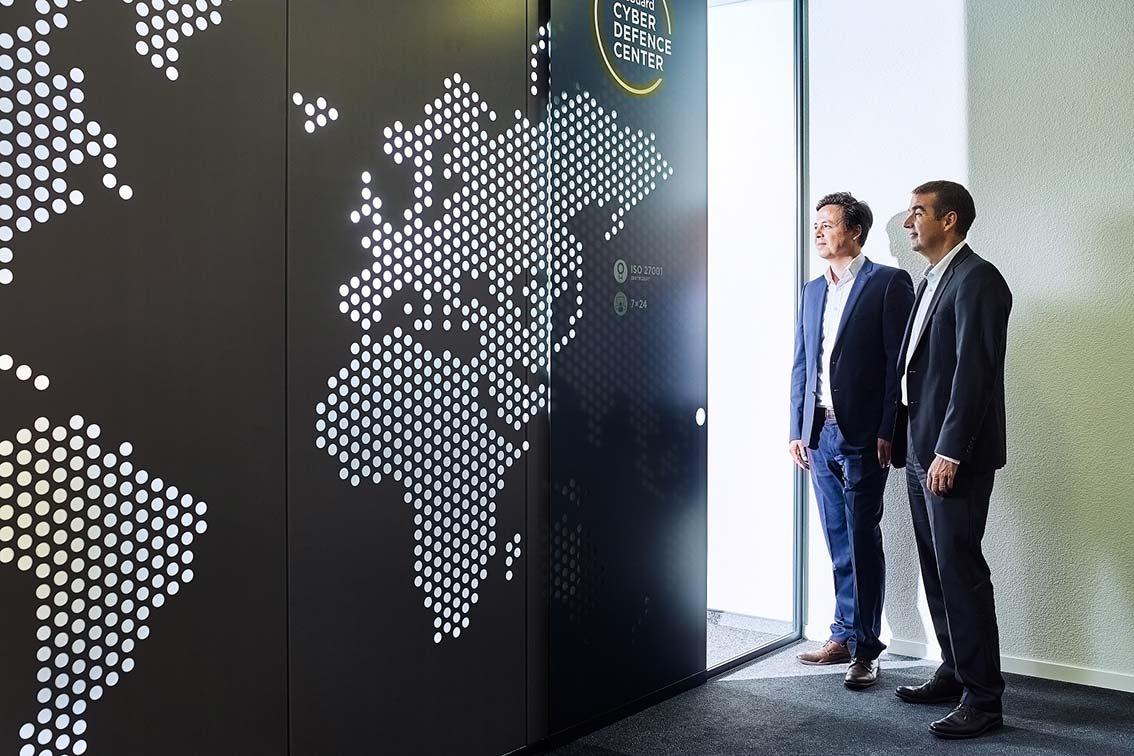 Blick ins InfoGuard Cyber Defence Center