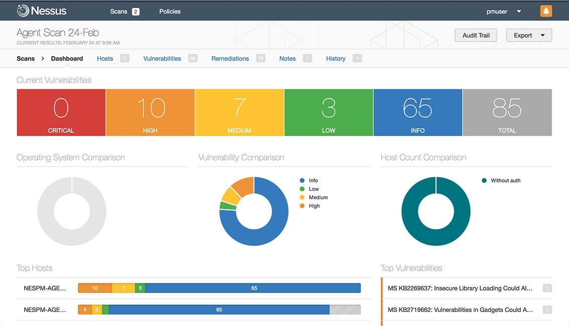 Tenable Network Security Vulnerability Management solution from