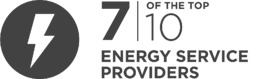 7 of the top 10 energy service providers are InfoGuard customers.