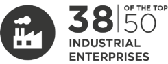 32 of the top 50 industrial companies are InfoGuard customers.