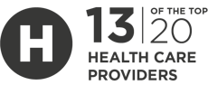 12 of the top 20 health case providers are InfoGuard customers.